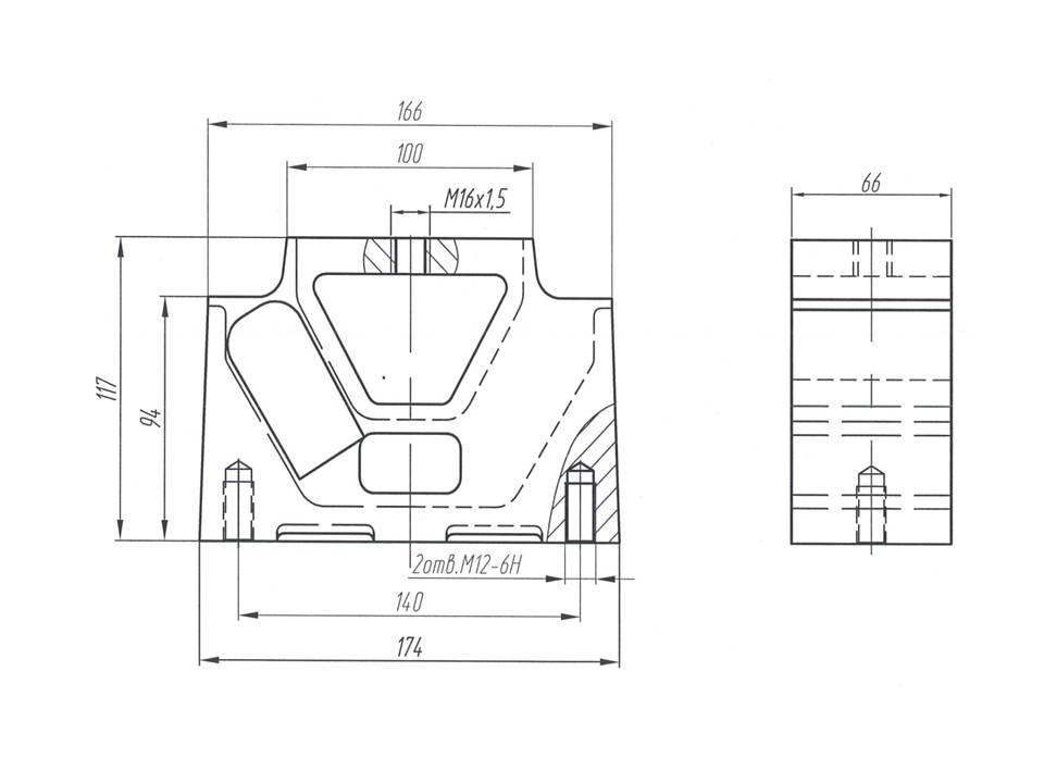 Виброизоляционная подушка МАЗ - опора МАЗ 1