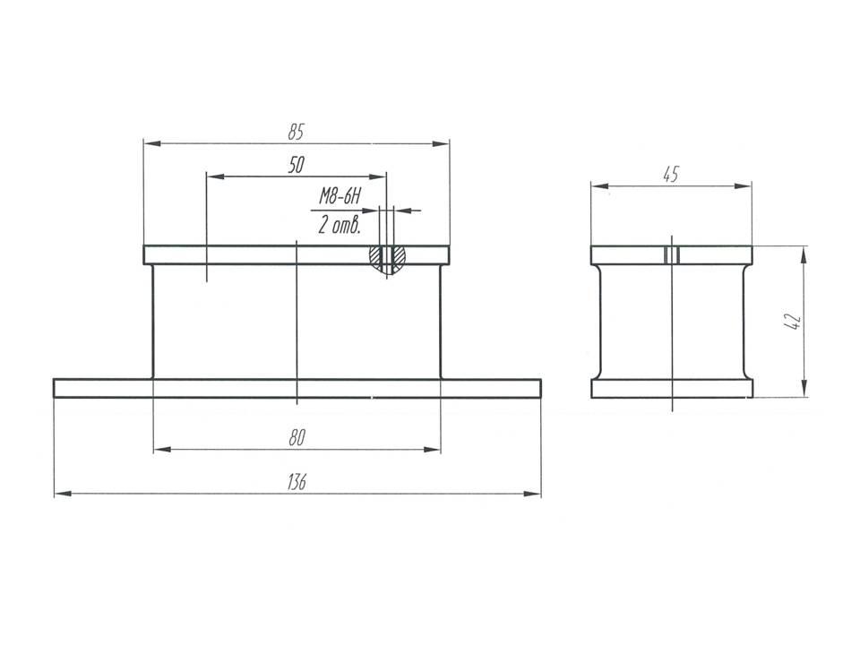 Виброизоляционная подушка МАЗ - опора МАЗ 4