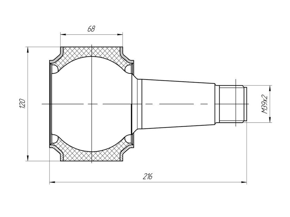 Шарнир МАЗ - втулка реактивной тяги МАЗ 4
