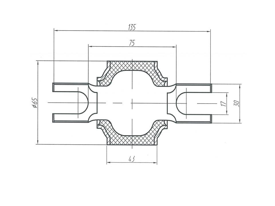 Шарнир МАЗ - втулка реактивной тяги МАЗ 5