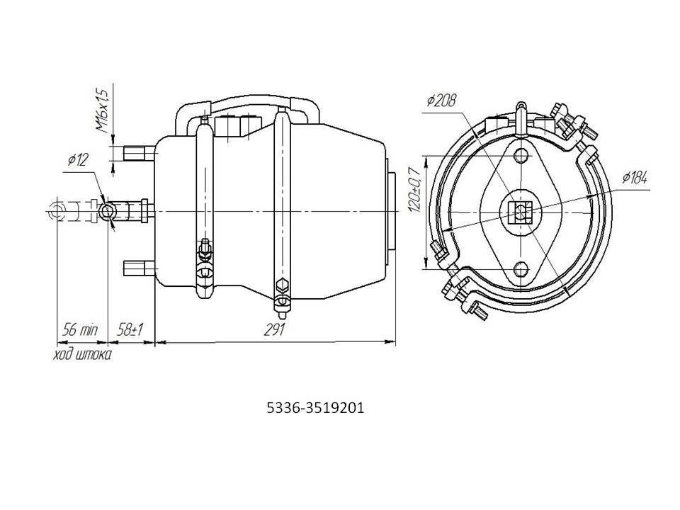 Тормозная камера МАЗ - назначение и характеристики 2