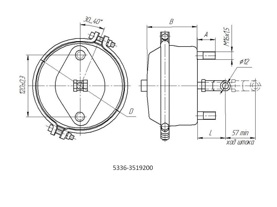 Тормозная камера МАЗ - назначение и характеристики 1